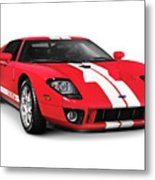 Ford Gt Supercar Metal Print