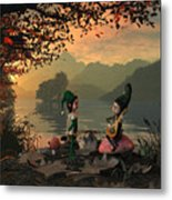 Forest Elves A Sunset Metal Print