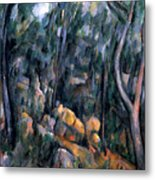 Forest In The Caves Above The Chateau Noir Metal Print