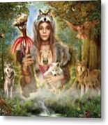 Forest Wolves Metal Print