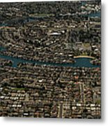 Foster City, California Aerial Photo Metal Print