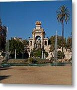 Fountain In A Park, Parc De La Metal Print