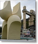 Fountain Of The Market Ramp By Mario Cravo Metal Print