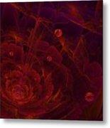 Fractal Flower Metal Print