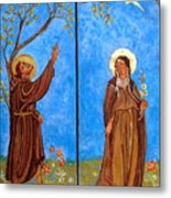 Francis And Claire Triptych Metal Print