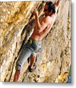 Free Climber Metal Print