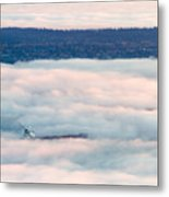 Freighter In The Clouds Metal Print