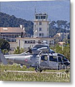 French Navy As565 Panther Helicopter Metal Print