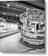 fresh food at the bullring indoor market Birmingham UK Metal Print