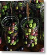 Fresh Harvested Olives And Tunas Metal Print