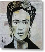 Frida Kahlo Press Metal Print