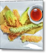 Fried Shrimps Tempura Metal Print