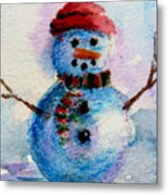 Frosty Aceo Metal Print