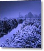 Frosty Field Metal Print