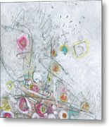 Fruit Salad On The Fourth Of July Picnic Table Metal Print