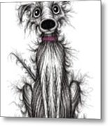 Fuzzy Dog Metal Print