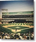 Game Day In Oakland Metal Print