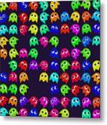 Game Monsters Seamless Generated Pattern Metal Print