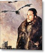 Game Of Thrones. Jon Snow. Metal Print