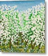 Garden In Blossom Metal Print