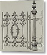 Gate And Gatepost Metal Print