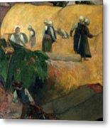 Gauguin: Breton Women Metal Print