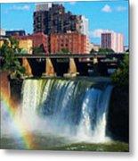 Genesee River Rainbow Metal Print