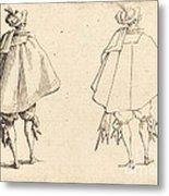 Gentleman In Large Mantle, Seen From Behind Metal Print