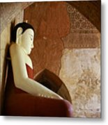 Geometric Buddha Metal Print
