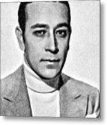 George Raft, Vintage Actor By Js Metal Print