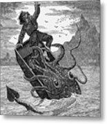 Giant Squid, 1879 Metal Print