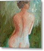 Girl Nude Metal Print