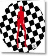 Girls. Red. II Metal Print