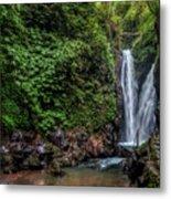 Git Git Waterfall - Bali Metal Print