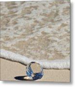 Glass Diamond On The Beach Metal Print