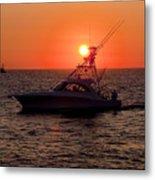Going Fishing - Silhouette Metal Print