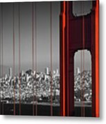 Golden Gate Bridge Panoramic Metal Print
