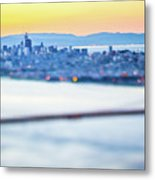 Golden Gate Bridge San Francisco California West Coast Sunrise Metal Print
