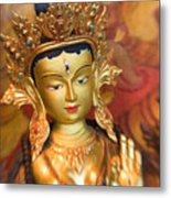 Golden Sculpture Metal Print