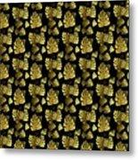Golden Tropics Pattern Metal Print