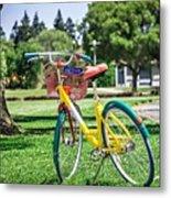 Google Bike Parked Near Googleplex Facility Park Metal Print