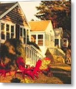 Goose Creek Beach Cottages Metal Print