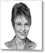 Governor Sarah Palin Metal Print