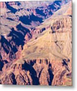 Grand Canyon Sunny Day With Blue Sky Metal Print