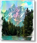 Grand Tetons From The Snake River Metal Print
