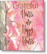 Grateful Hearts Metal Print