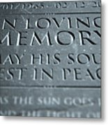 Gravestone In Loving Memory Metal Print