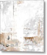 Gray Brown Abstract 12m3 Metal Print