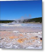 Great Fountain Geyser In Yellowstone National Park Metal Print