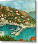 Greek Island Metal Print